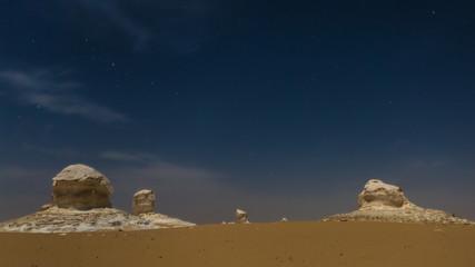 The White Desert at Farafra in the Sahara of Egypt.