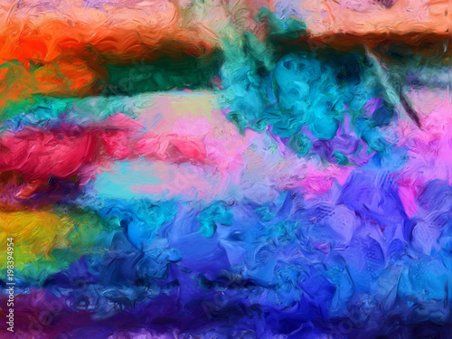 Impression Abstract Texture Art Design Colorful Bacground Oil