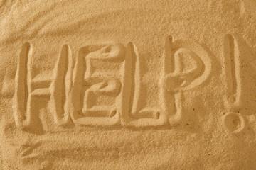 Help text Sign on the beach