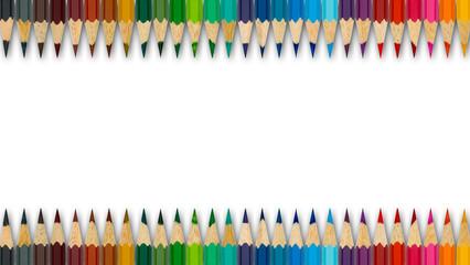Bundstifte für die Schule in Regenbogenfarben