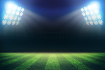 lights at night and stadium 3d rendering