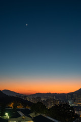 twilight with the moon