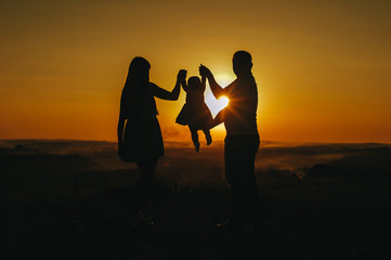 family wiht a great landscape