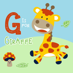 Giraffe cartoon. Eps 10