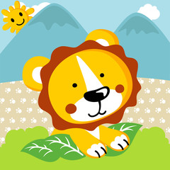 Baby lion cartoon. Eps 10
