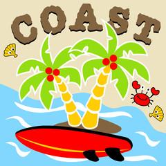 Beach cartoon. Eps 10