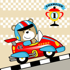 Car racing cartoon. Eps 10