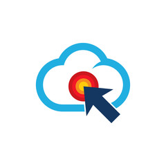 Touch Cloud Logo Icon Design
