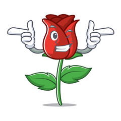 Wink red rose character cartoon