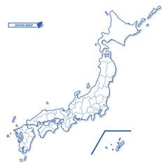 ニホン地図 シンプル白地図