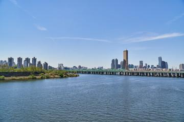 Landscape of Han-river in Seoul