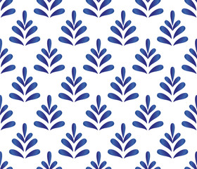 ceramic blue pattern vector