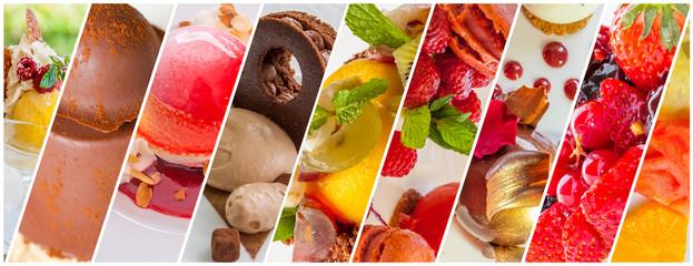 collage de desserts