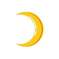 Simple minimalist moon icon