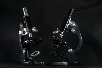 Old microscope in top quality fully functional