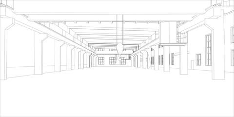 Industrial buildings outline