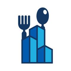Building Food Logo Icon Design