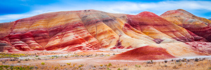 Colorful clay hills in the Painted Hills of Oregon, USA Wall mural