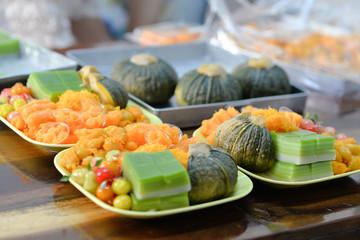 Thailand mix dessert sweet food colorful custom