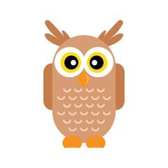 cartoon owl vetor image