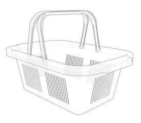 Shopping basket sketch