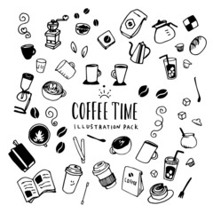Coffee Time Illustration Pack