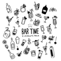 Bar Time Illustration Pack