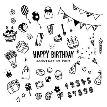Happy Birthday Illustration Pack