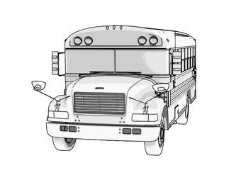 sketch of school bus vector