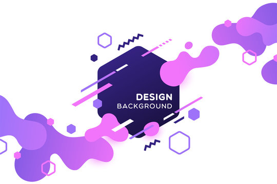 Trendy concept abstract geometric design, memphis background. Applicable for placards, brochures, posters, covers and banners. Vector illustration.