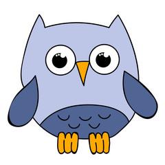 isolated owl character, cartoon