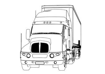sketch of truck vector