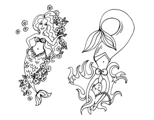 Мифические существа русалочки. Русалки под водой