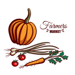 Farmers Market Pumpkin Vegetables