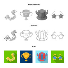 Pipe, uniform and other attributes of the fans.Fans set collection icons in flat,outline,monochrome style vector symbol stock illustration web.