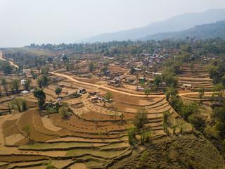 Aerial view of Balewa in Nepal
