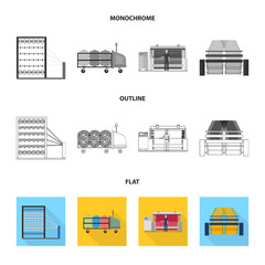 Machine, equipment, spinning, and other web icon in flat,outline,monochrome style., Appliances, inventory, textiles icons in set collection.