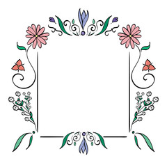 A frame of flowers