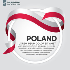 Poland flag background