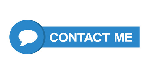 Contact me vector button with chat icon.