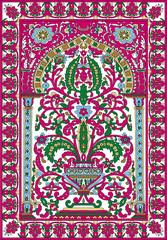 Arabic tile fresca flower pink