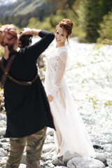 wedding photographer in action