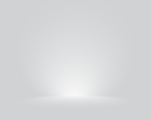Bright grey studio room gradient background wall. Vector.
