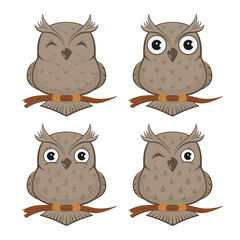 Set of owls