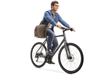 Young guy riding a bicycle Wall mural