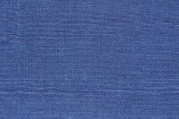 Blue cotton weave fabric texture