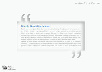White Quotation Marks_Text Frame #Vector Graphics