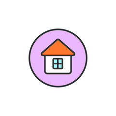 Colored house icon