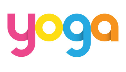 YOGA Colourful Letters Icon