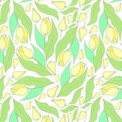 Spring flowers pattern. Tulips